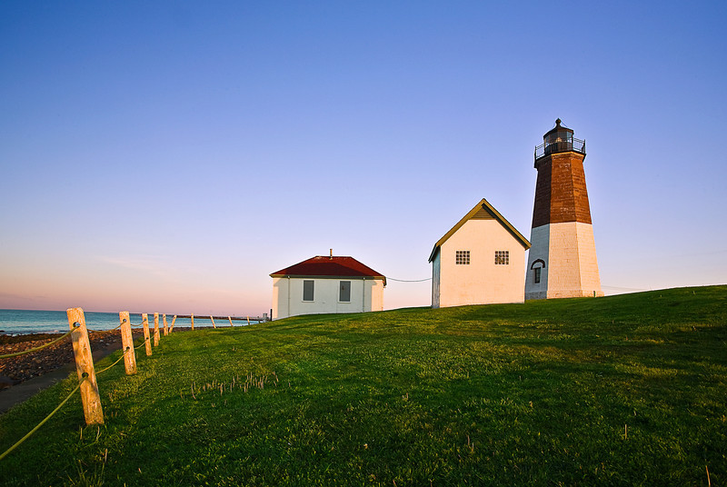 Rhode Island, Point Judith, Lighthouse, Sunrise Landscape , 罗德岛, 灯塔 风景