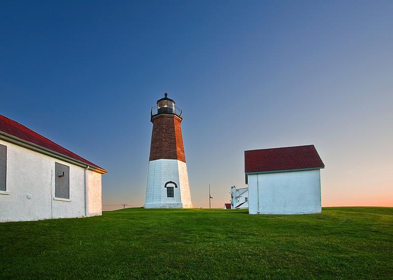 Rhode Island, Point Judith, Lighthouse, Sunrise Landscape , 罗德岛, 灯塔 风景