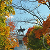 Fall on Lee Monument