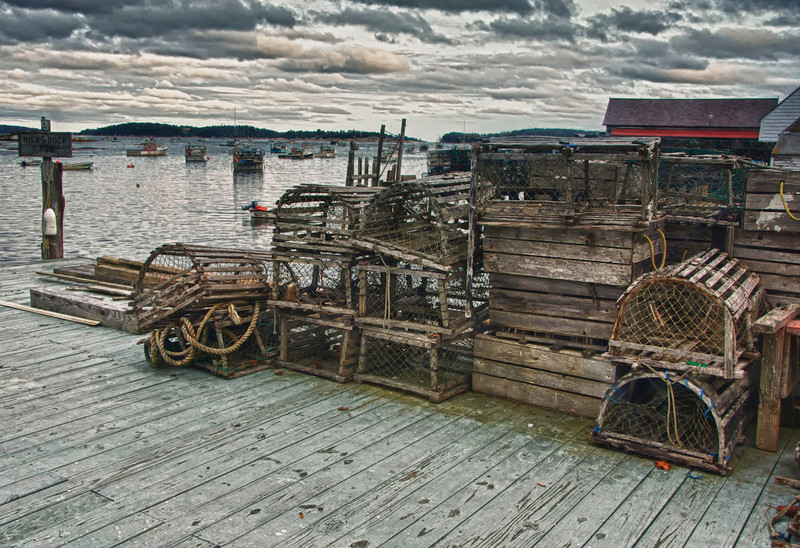 Vintage Lobster Traps - Bass Harbor Maine