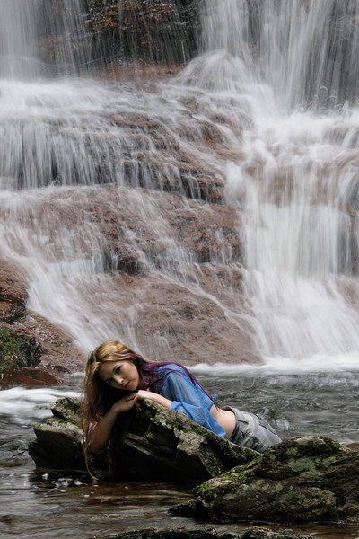 Nymph at the Base of Sheldon Reynolds Falls