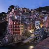 01/12/2013 – 17:13 Riomaggiore al tramonto, Cinque Terre, Riviera Ligure di Levante, La Spezia Italy