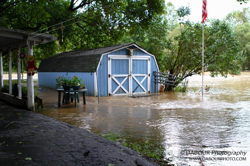 S Main Street Home flooding