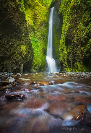 """Oneonta Falls""  Columbia Gorge, Oregon"