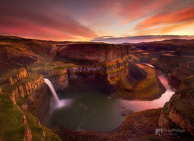 """Palouse Falls Sunset""   Palouse Falls, eastern Washington State"
