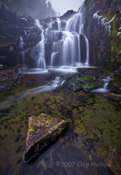 """Mount Rainier Waterfall""  Mount Rainier National Park, Washington"