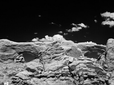 North and South Windows at Arches National Park Infrared