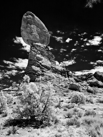 Balanced Rock, Arches National Park Infrared