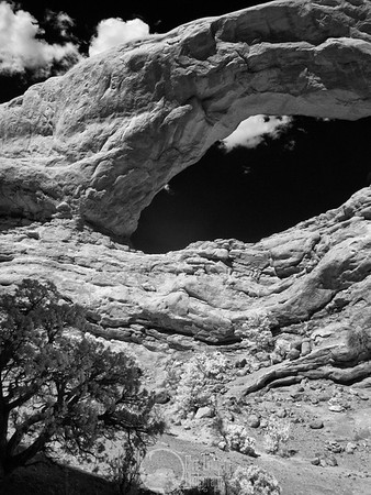 South Window, Arches National Park Infrared