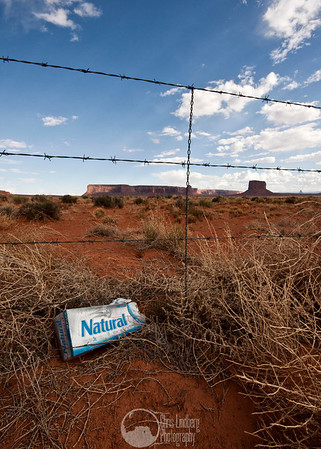 Oh, so very ironic...  Near Monument Valley.