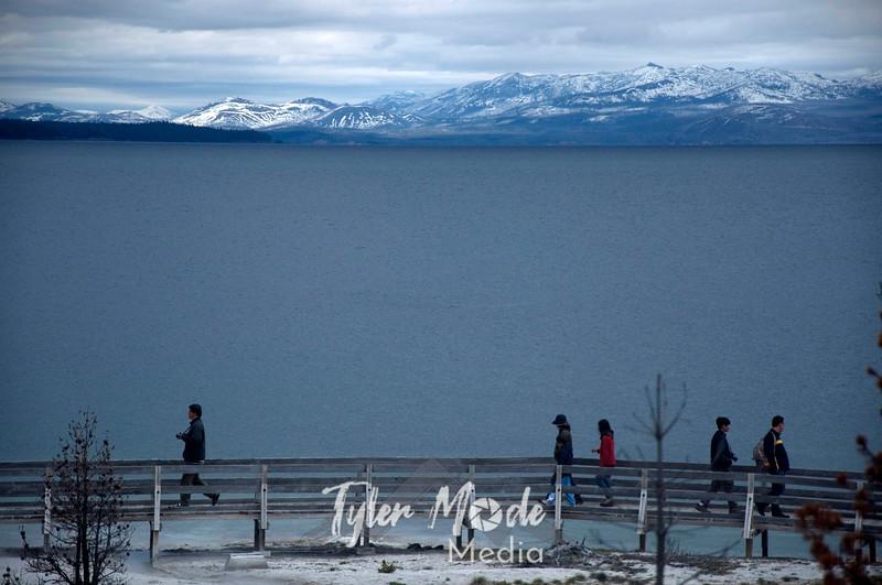 351  G Yellowstone Lake and Boardwalk
