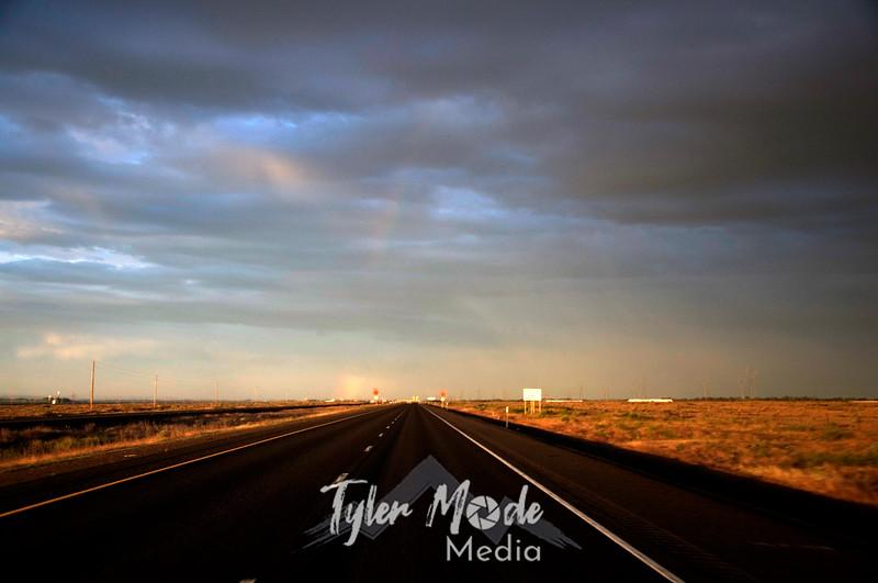2  G Evening I-84 and Rainbow