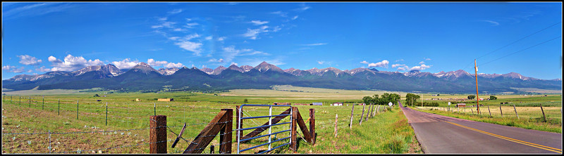 The Colorado Sangre de Cristo Range viewed from the Wet Mountain Valley to the east