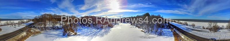 Eastman Lake and Durand-Eastman Beach in 340-degree panorama