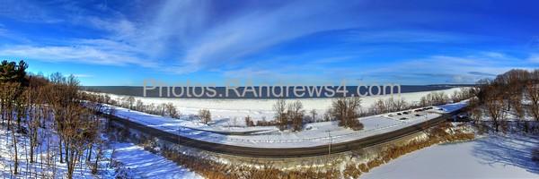 Durand Eastman Beach in Winter