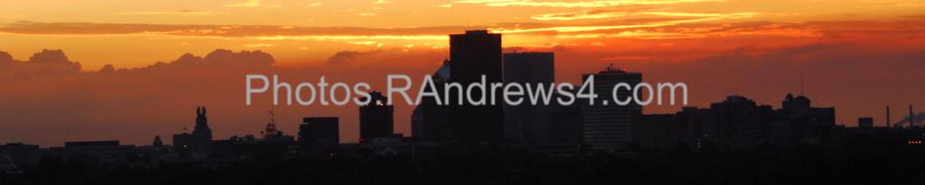 Sunset over Rochester Skyline