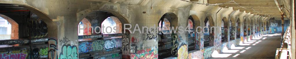 Subway/Erie Canal bed under Broad Street Bridge