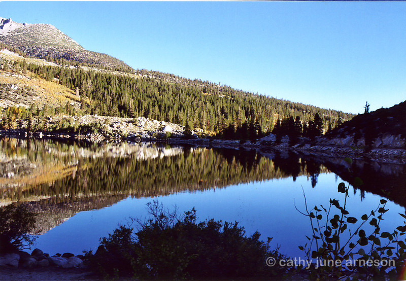 Early morning reflection at Rock Creek Lake, CA.