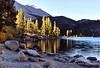 Early morning light at Rock Creek Lake, CA.