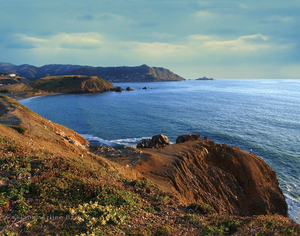 View of Rockaway and Pedro Point-sky1-11x14-rgb145-115