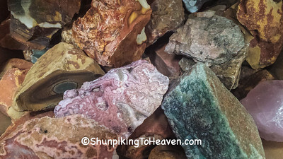 Rough Crystals from Burnie's Rock Shop, Madison, Wisconsin