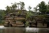 Sugar Bowl Rock and Grotto Rock, Lower Dells, Wisconsin Dells, Wisconsin
