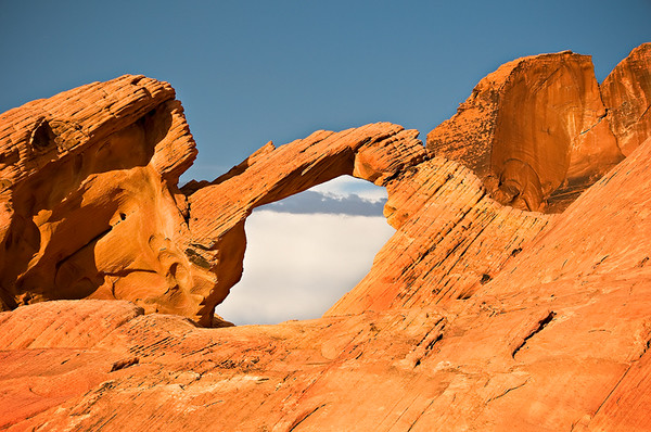 Arches in the Valley of Fire.  Valley of Fire State Park, Nevada.  Rockscapes in the Valley of Fire series.