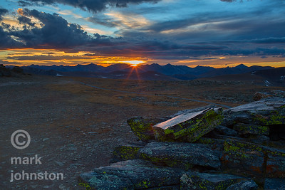Trail Ridge tundra sunset