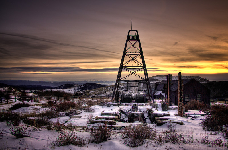 The head frame at the Vindicator Gold Mine in Victor, Colorado.