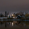 Ketring lake on a winters night,  Littleton, Colorado