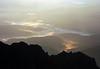 Varful Omu, sunrise over Diham mountain. In the foreground, Morarul mountain. 2003. minolta 7i