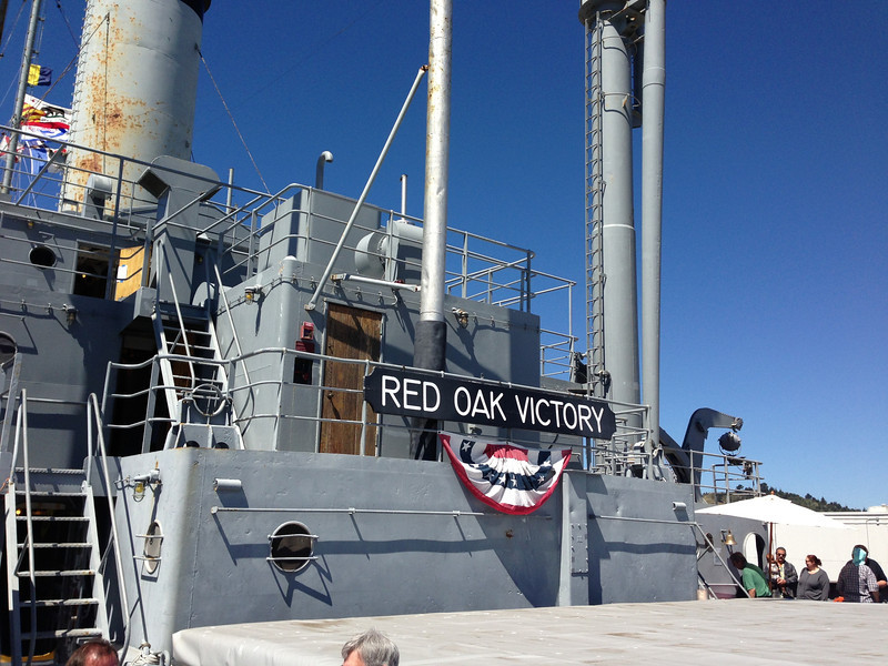 The restored Victory Ship Red Oak in Richmond, CA <br /> Red Oak Victory 2013-04-14 at 11-59-19