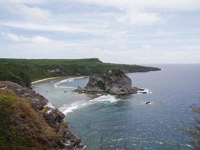 Rocky shoreline of Saipan, CNMI