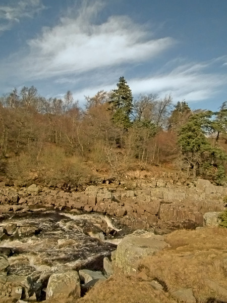 High Force, Teesdale from above