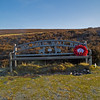 A beautiful memorial to a Military Policeman who lost his life in Basra 2003. Weardale - above Stanhope and nr Crawleyside bank.