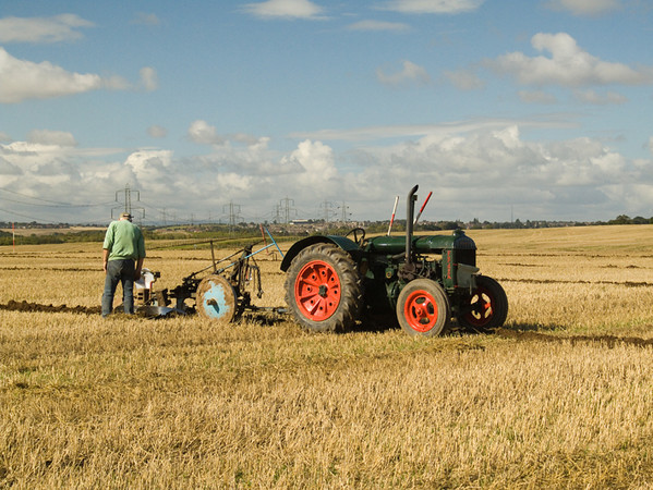 Tractors at South Elmsall, Yorkshire