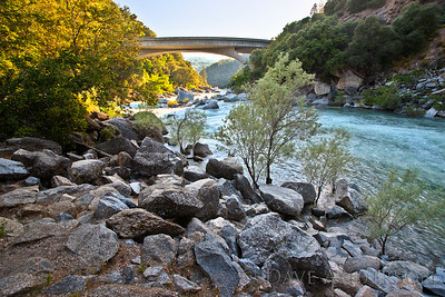HDR Photo of South Fork of Yuba River, at Highway 49, Nevada City, Ca.