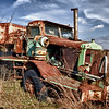 Old coal mine hauler at New Alluwe, Ok