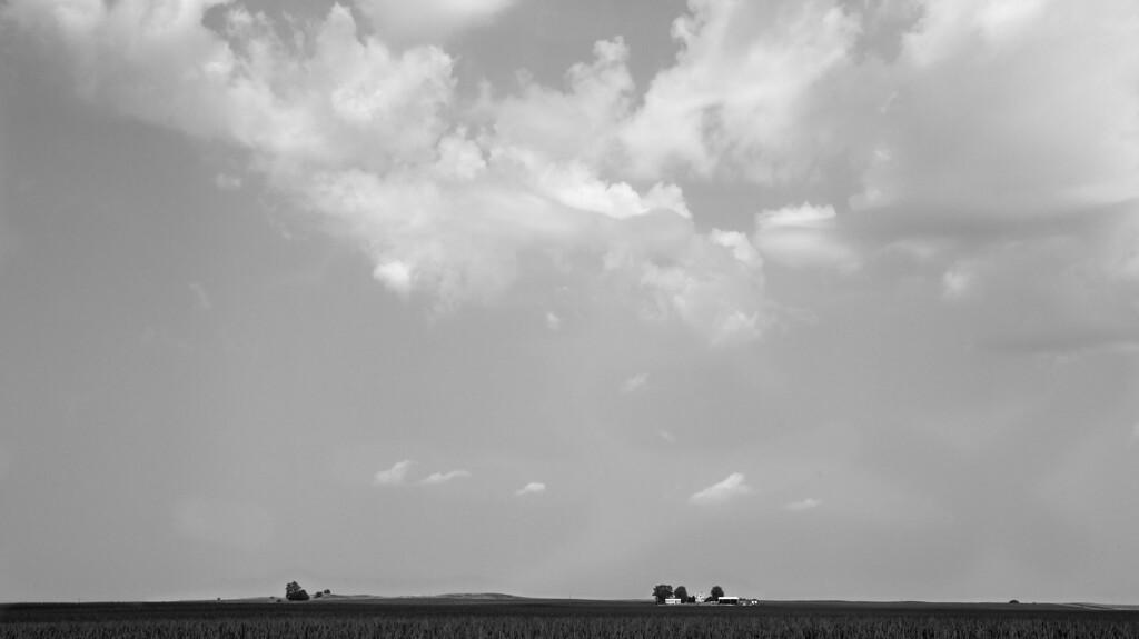 Big Sky Iowa B&W