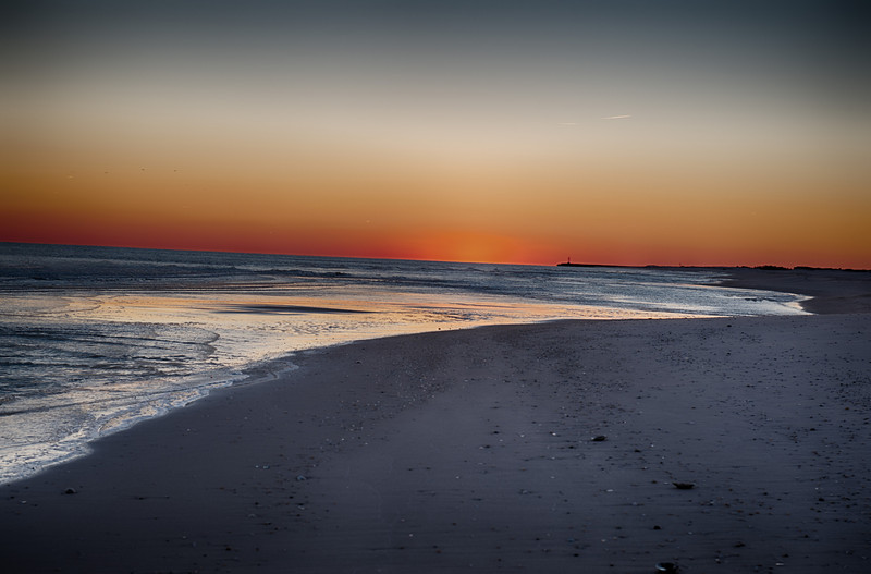Winter Sunset at Westhampton Beach, Long Island, NY