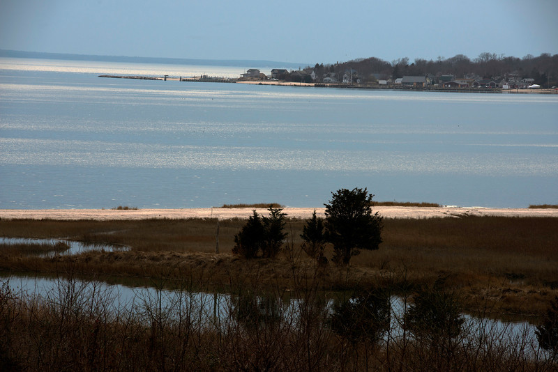 View of New Suffolk, the site of the first US sub base in the early 1900's.