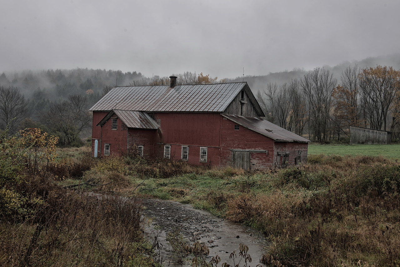 Old barn in the hills of Smyrna, NY.