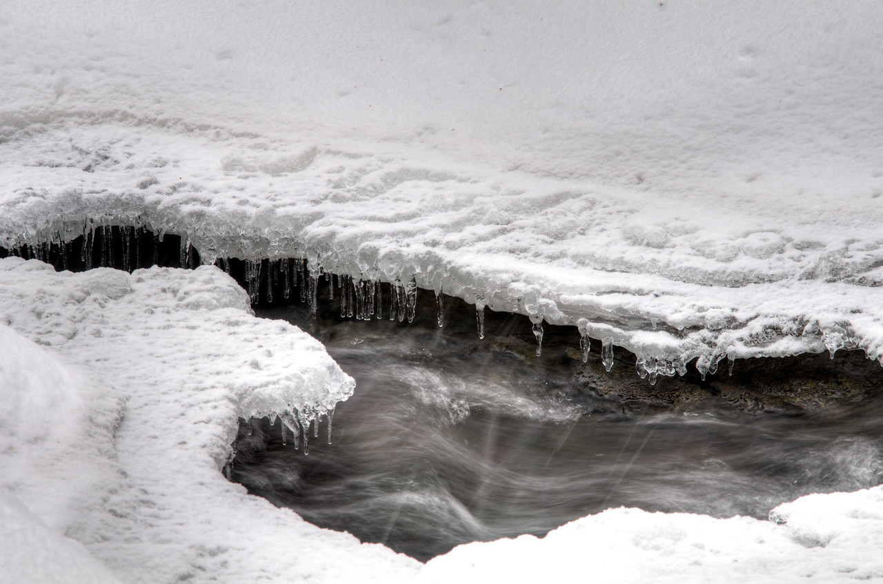 Below Rexford Falls, Sherburne, NY.  It's a difficult winter snowshoe adventure to get up into the Rexford Falls Gorge.