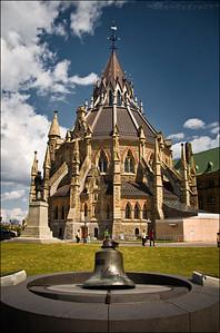 The Parliamentary Library in Ottawa, Ontario, Canada.