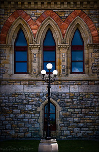 The outside of the Parliamentary Library in Ottawa, Ontario, Canada.