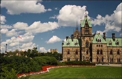One of the Canadian Parliament Buildings in Ottawa, Ontario, Canada.