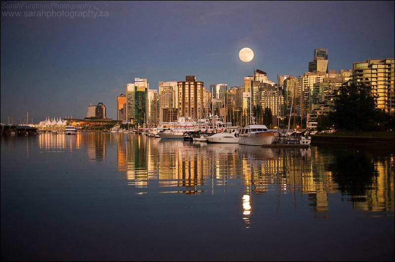 The Vancouver city skyline.