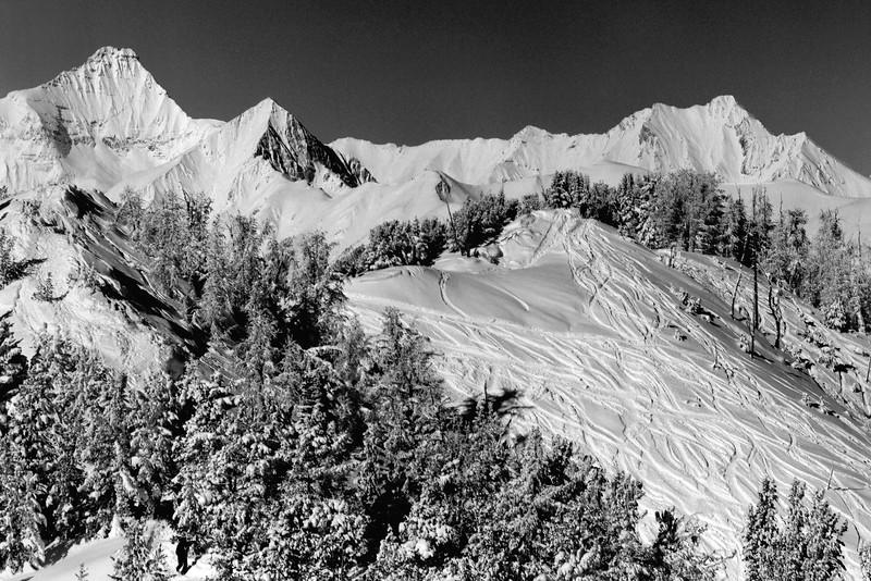 Mount Nelson and Ski Tracks