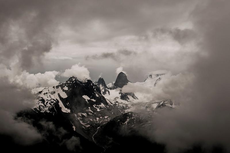 Bugaboos through the Clouds