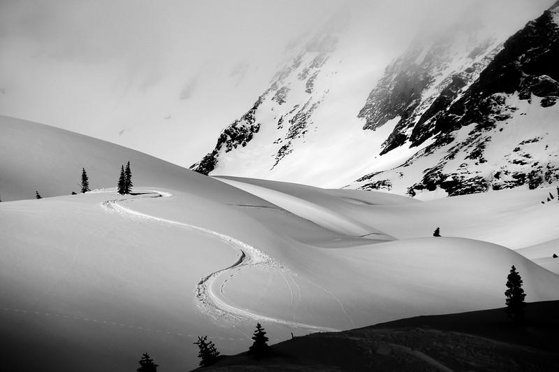 Ski Tracks - Honeymoon Bowl - CMH Bugaboos